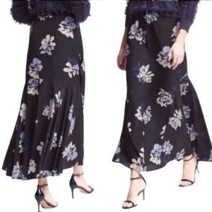Banana Republic Ruffled Floral Maxi Skirt